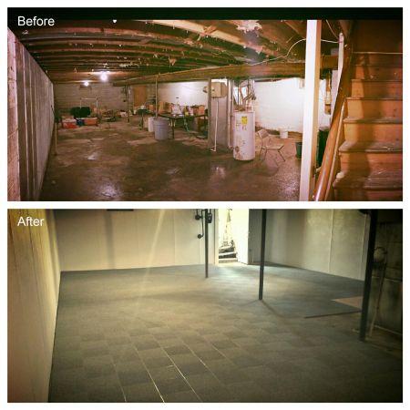 ThermalDry Basement Flooring Finishing Services Rochester - Thermaldry basement flooring cost