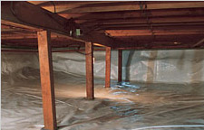 Crawl space repaired