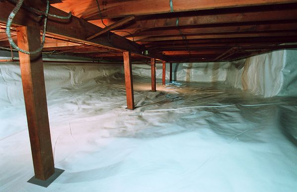 Refinished Crawl Space